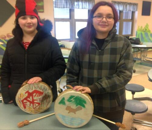 Decorated Hand Drums