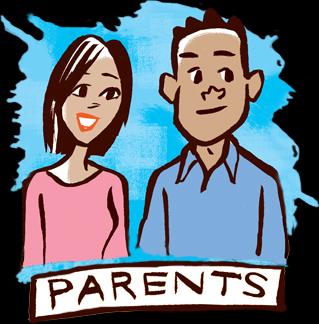 graphic of parents