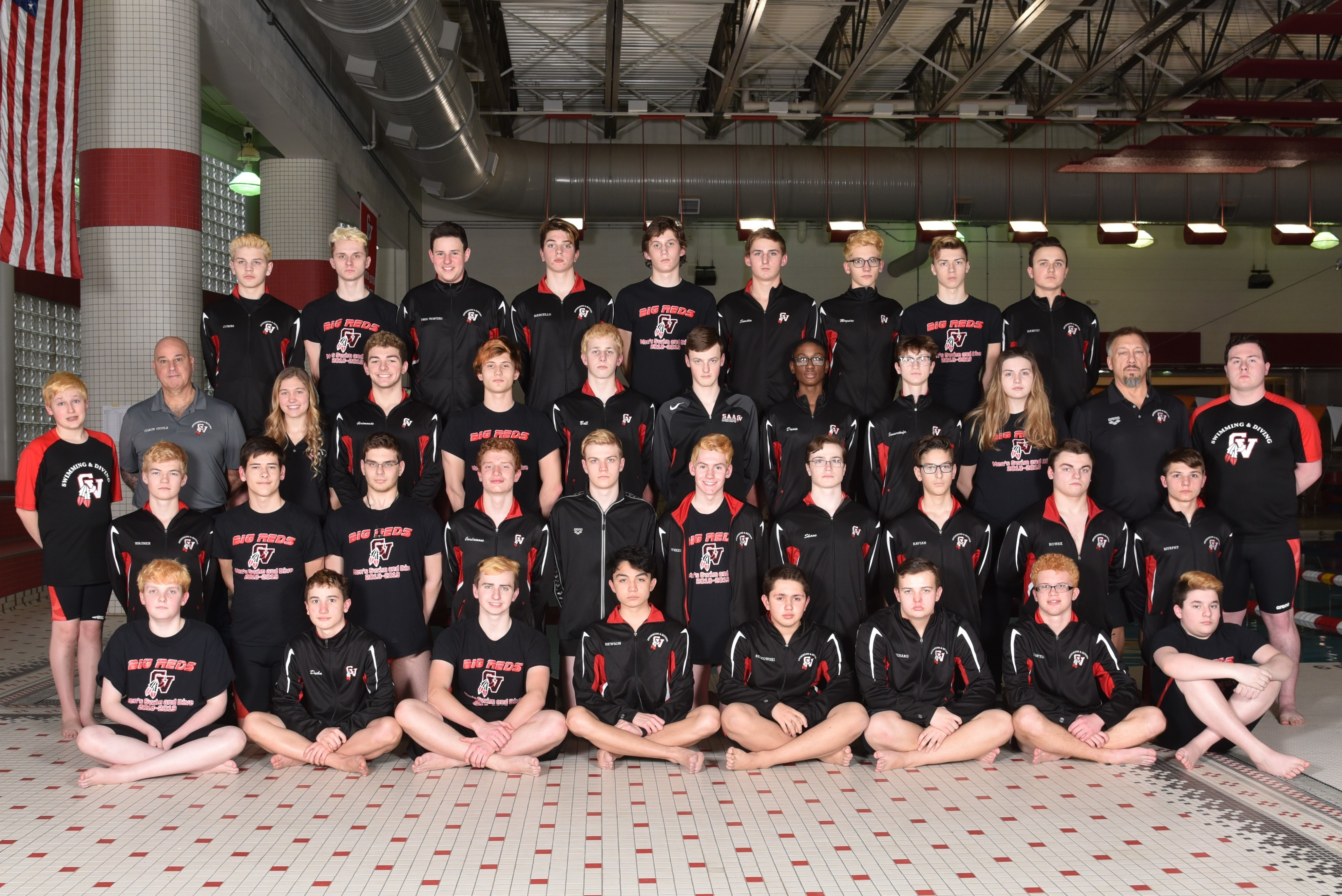 Boys Swimming Team Photo