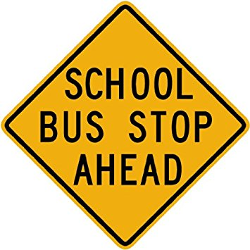 School Bus Stop Ahead - Bus Route Finder