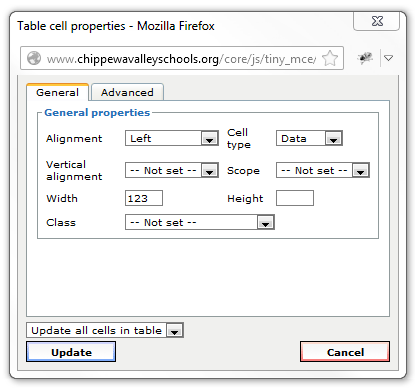 UpdateCellProperties-GeneralTab